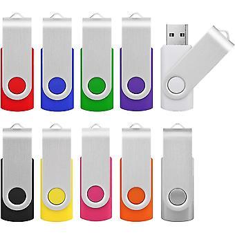 FengChun USB Stick 16GB USB 2.0 Bunt Memory Stick 10 Stck USB-Sticks USB-Flash-Laufwerke Set