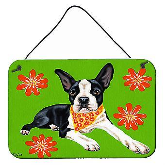 Caroline'S Treasures Cosmo Cutie Boston Terrier Wall Or Door Hanging Prints Amb1385Ds812, 8H X 12W, Multicolor
