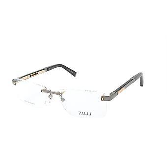 ZILLI glasögon Ram Titanacetat Läder Frankrike Tillverkad ZI 60013 C03