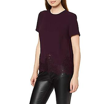 New Look Lucy Lace - Dark Purple T-shirt, 38