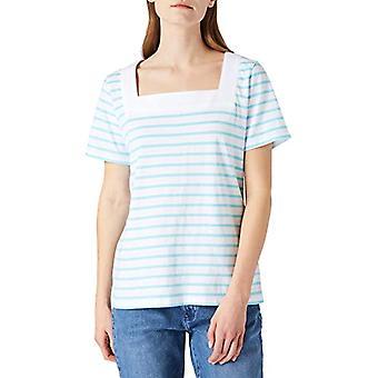 Armor Lux Marini king Encolure Carree T-Shirt, Blanc/Rivage, 52 Woman