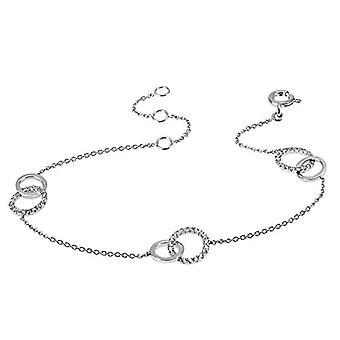 Goldmaid - Women's bracelet with 17 zircons, color: White
