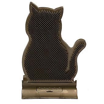 1pc Nova costura fixa cabelo de gato remover cabelo arranhando massagem escova gato arranhar Cat Toys (preto)