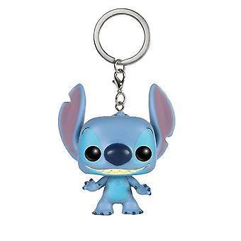 Lilo And Pop Stitch Figures Keychain Key Ring Pendant