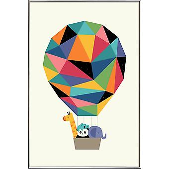 JUNIQE Print - Fly High Together - Plakat dzikiej przyrody w kolorowy