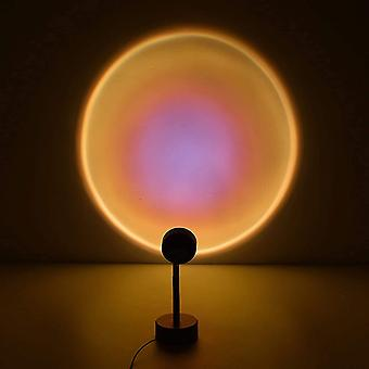 Sunset projection lamp night light projector 90 degree led projection lamp night light for kids adults lights for room decor (sun-red portable) pl-141