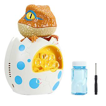 Machine à bulles de dinosaure électrique, jeu d'été pour enfants en plein air