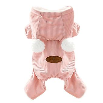 Cat clothes autumn and winter warm pet thickened cotton-padded clothes cute pet clothing
