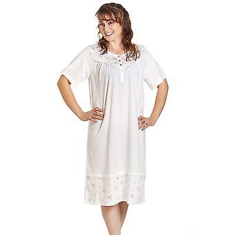 Camille Womens Korte Mouwen Polka Dot Nachthemd