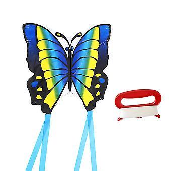 1 set cartoon kite outdoor speelgoed grappige kite met snoer voor kinderen park tuin spelletjes benodigdheden (30m snoer stijl, blauw)