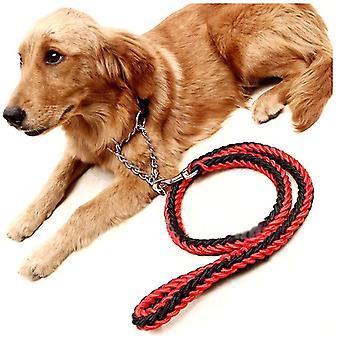 الكلب المقود للكبير المقود حبل عاكس الحيوانات الأليفة يؤدي الكلب طوق تسخير النايلون تشغيل Leashes
