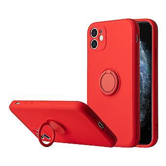 Étui iphone 12 avec support (rouge)