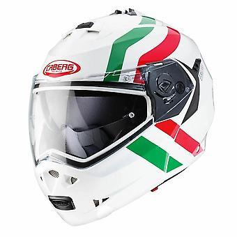 Caberg Duke II Super Legend Italia Full Face Motorsykkel Hjelm Hvit