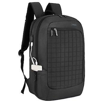 Laptop Backpack 17.3 Inch With Usb Charging Port, Water Resistant Travel Rucksack Business Knapsack-grey