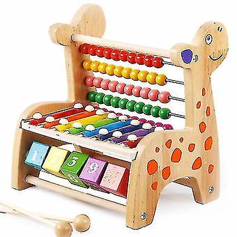 Peura puinen harppu ksylofoni lelut Vauvan musiikin havaitseminen Koulutus aistinvarainen kyky (#01 log väri)