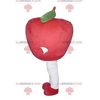 Jättiläinen ja hymyilevä punainen omena REDBROKOLY.COM maskotti