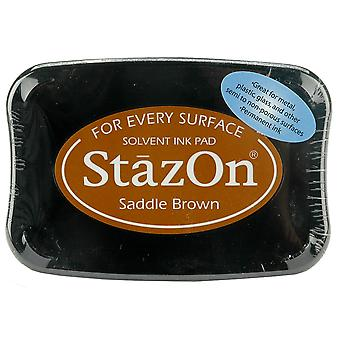 StazOn Solvent Ink Pad - Saddle Brown