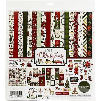 """كارتا بيلا مجموعة كيت 12 """"X12"""" -- مرحبا عيد الميلاد"""