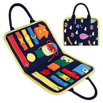 ילדים עסוקים אבזם לוח 1-5 שנים רוכסן כפתור שרוך כלי צעצוע מונטסורי חינוך מוקדם שמלה מסייע צעצועי גן לילדים
