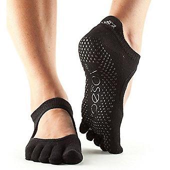 ToeSox No Toe Bellarina Pilates Yoga Dance Martial Arts Grip Socks - Black