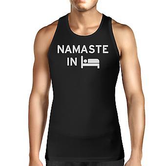 Namaste في سرير سيدات خزان أعلى اليوغا قميص بلا اكمام هدايا يوغي