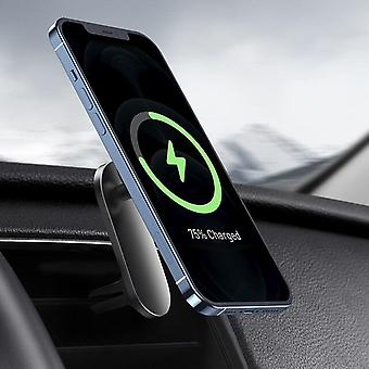 Magnetic Car Wireless Charger For IPhone 12 Pro Max Vent Mount Stand|Wireless Chargers(Black)