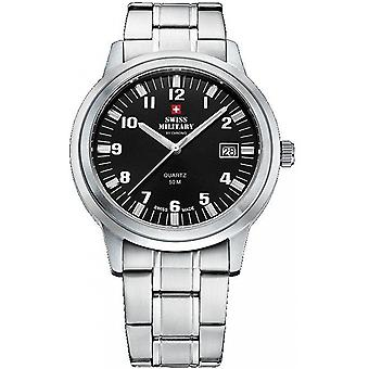 Reloj suizo Military By Chrono Silver Stainless Steel SMP36004.06 para hombre