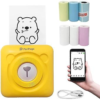 Smart Photo Printer, Mini Thermal Printer, Instant Sticker Printer, Small Smart Phone Printer For Ios And Android Phones, With 6+1 Printing Paper Roll