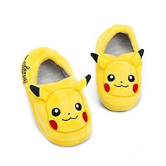 Pokemon Pikachu pantofle pro chlapce a dívky | 3D charakter Kid's Obuv House Boty | Pokemon Dárky Žlutá kluzu Na & Měkké mokasíny