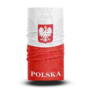 ネックガイターズフットボールヘッドスカーフワールドカップファン男性と女性多機能カラースポーツライディング日焼け止めビブ - ポーランドチーム