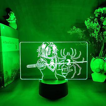 Kids Gift Anime Hunter X Hunter Feitan Night Light Touch Sensor Chambre 3d Illusion Night Light Ledanime Lamp Télécommande colorée Night Light Home