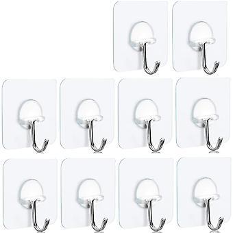 Ganci senza cuciture adesivi da 10 se stessi per appendere l'armadio del bagno della cucina