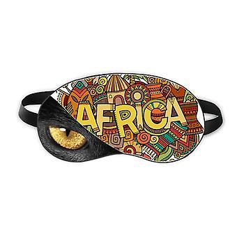الأفريقية نمط الفن السكان الأصليين رئيس العين القبلية بقية الظلام غطاء الظل التجميل