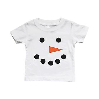 Snowman Christmas White Baby Shirt Holiday Gifts