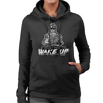 I Want You To Wake Up They Live Women's Hooded Sweatshirt