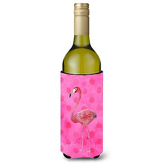 Flamingo Pink Polkadot Wein Flasche Beverge Isolator Hugger