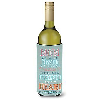 Mom Forever in My Heart Wine Bottle Beverge Insulator Hugger