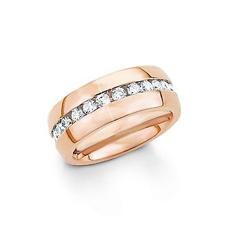 s.Oliver juweel dames ring zilver RVS cubic Zirkonia SO1338