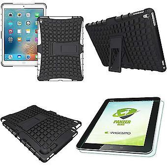 Hybridi ulkouima suojakotelo iPad Pro 9,7 laukku + 0,4 H9 valkoinen karkaistu lasi