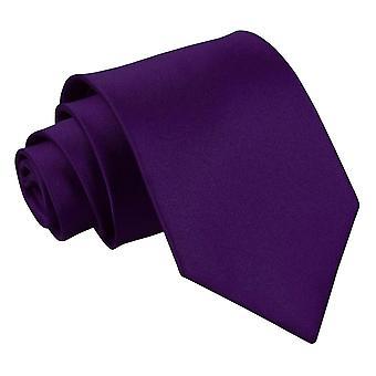 Lila oformaterad Satin Extra långa slips