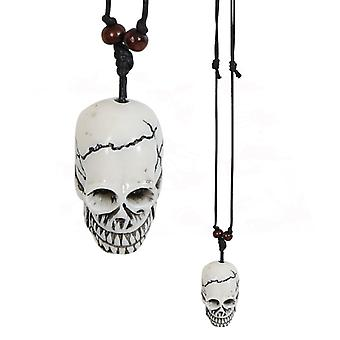 Kæde Totenkopf kraniet Goth emo graver Grafdigger