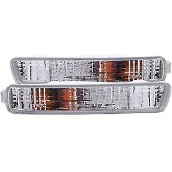 Anzo USA 511008 Honda Accord Chrome Euro w/Amber Reflector Bumper Light Assembly - (Sold in Pairs)