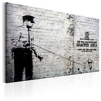 Schilderij - Graffiti Area (Police and a Dog) by Banksy
