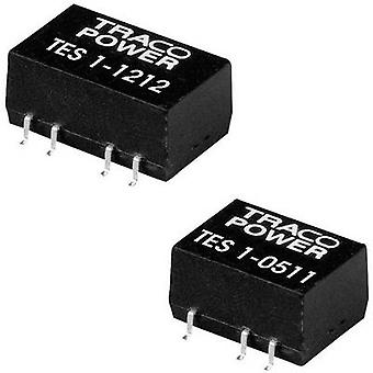 TracoPower TES 1-0512 DC/DC converter (SMD) 5 Vdc 12 Vdc 85 mA 1 W No. of outputs: 1 x
