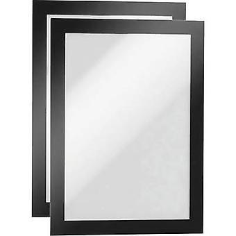 Durable 487101 DURAFRAME A5 - 4871 Ad frame (self-adhesive) A5 Black (W x H) 174 mm x 236 mm 2 pc(s)