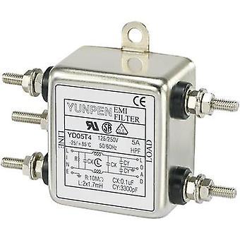 Yunpen YD05T4 EMI filter 250 V AC 5 A 1.7 mH (L x W x H) 50 x 85.3 x 28.5 mm 1 pc(s)