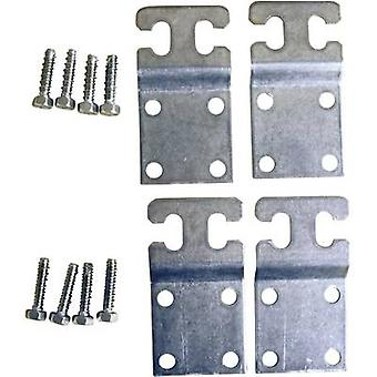 Fibox 8280002 MF CAB Wall Mounting Plate/metal MF CAB (4 Pcs) Metal Grey-white (RAL 7035) Compatible with (details) CAB P 302017, CAB P403017, CAB P 504023,
