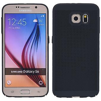 Matkapuhelin tapauksessa Samsung Galaxy S6 reuna holkki tapauksessa laukku kansi kotelo musta