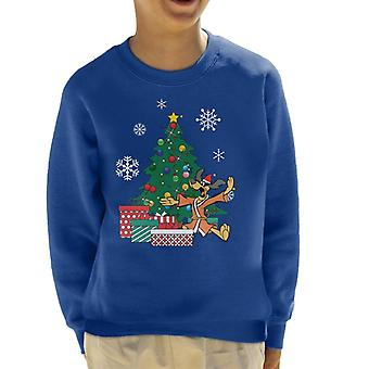 Hong Kong Phooey Around The Christmas Tree Kid's Sweatshirt