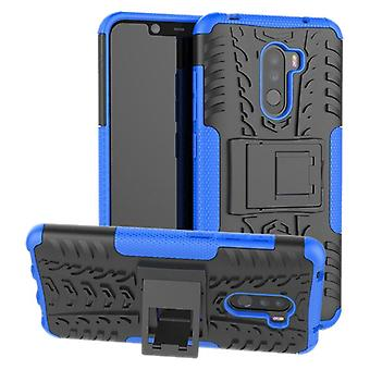 For Xiaomi POCO Pocofone F1 hybrid case 2 piece SWL outdoor Blau bag case cover protection